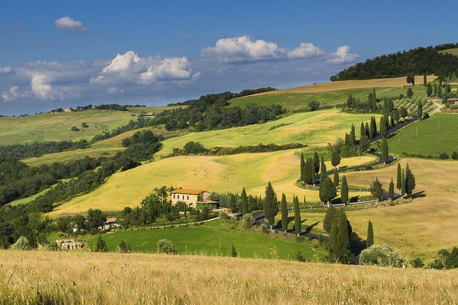 UNESCO Val d'Orcia Spring